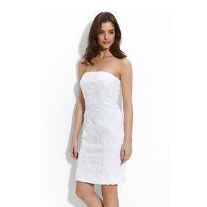 Calvin Klein White Rosette Textured Cami Dress